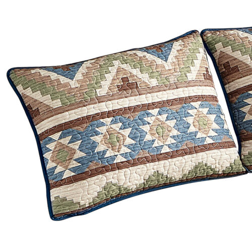 by Collections Etc Etched Deer Aztec Western Cabin Pillow Sham