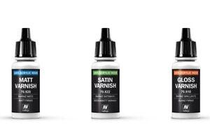 Vallejo-Varnish-Gloss-Matt-Satin-Acrylic-Model-Paint-17ml-Bottle