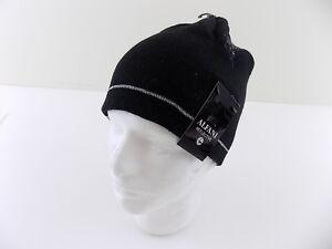 ALFANI  65 MEN Beanie REFLECTIVE HAT Acrylic SIZE One Size Black ... dd57cb42f