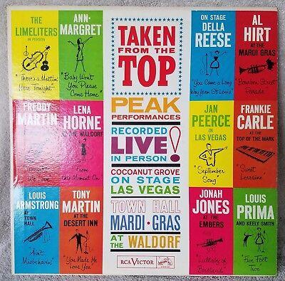 Taken From The Top 1962 (PR 128) Peak Performances Live Various Vinyl 33 LP VG/+