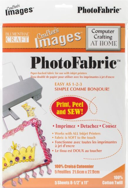 "Crafter's Images Sew-In Photofabric 8.5""X11"" 5/Pkg-100% Cotton Twill -10601014"