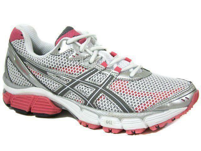 Womens ASICS GEL PULSE 4 White Running Trainers T290N 0111