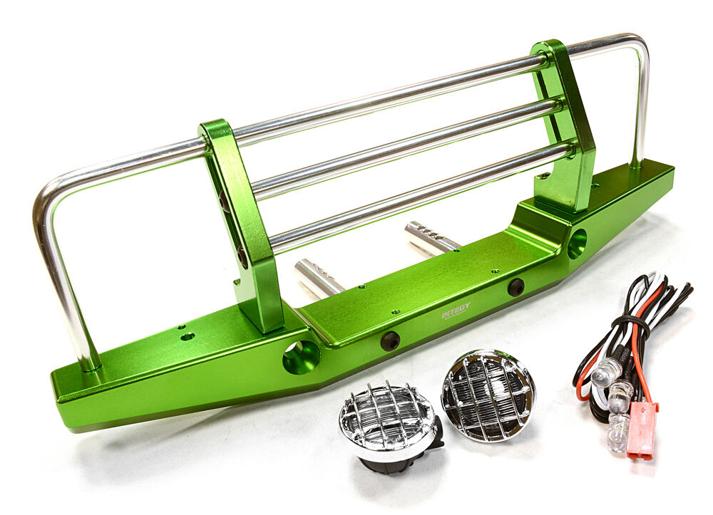 C26375GREEN Integy Model Metal F Bumper w LED for for for Axial SCX-10 43mm Mount 7f6e59
