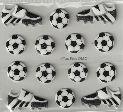 VAT Free Trimits Craft Card Making Stickers 10 x Footballs 4 x Boots C0343 New