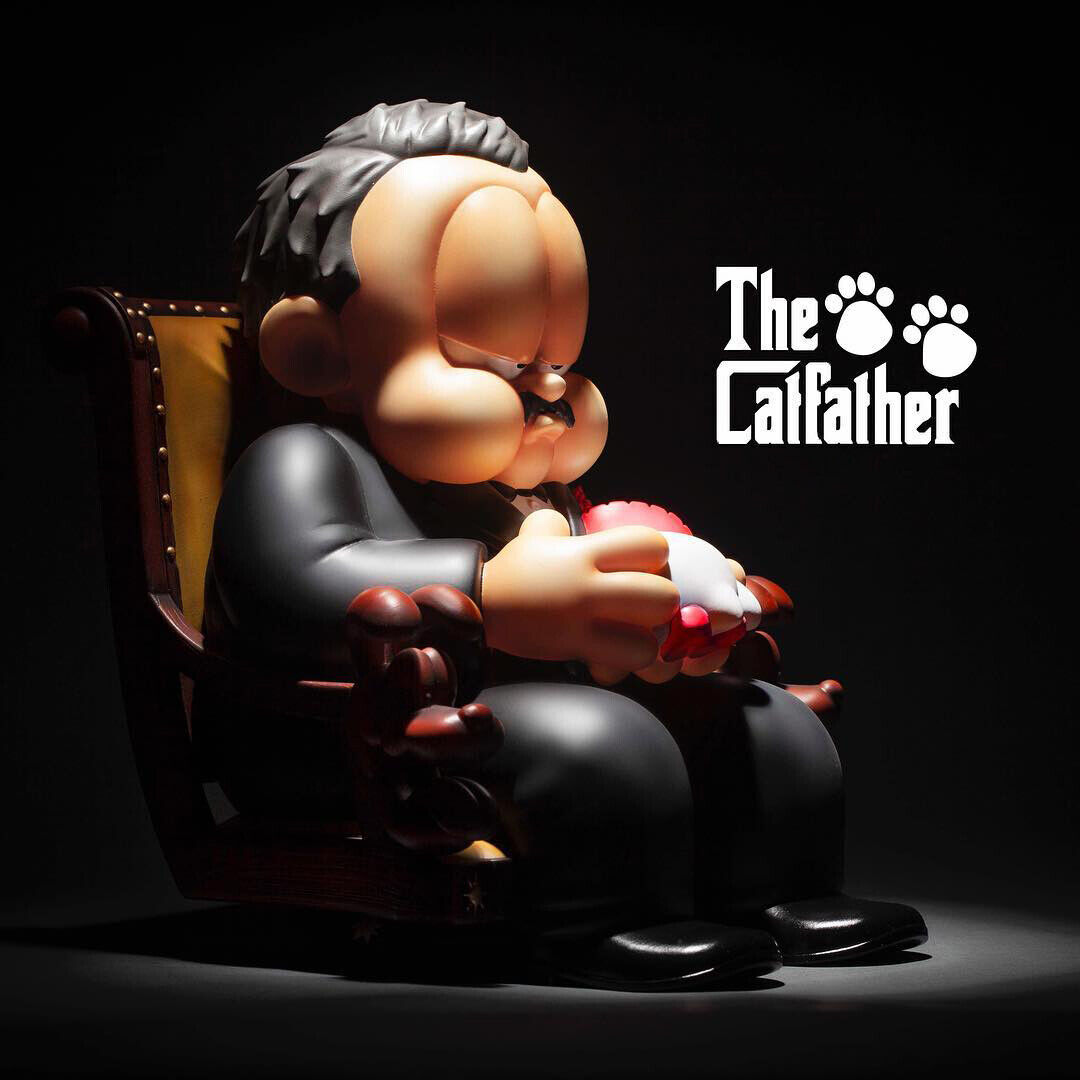Fools Paradise The Catfather 100% Authentic, Vinyl Figure Godfather and Garfield