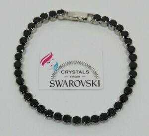 Bracciale-Tennis-Unisex-oro-18-kt-pl-cristalli-Swarovski-neri-SWBRORB19-006