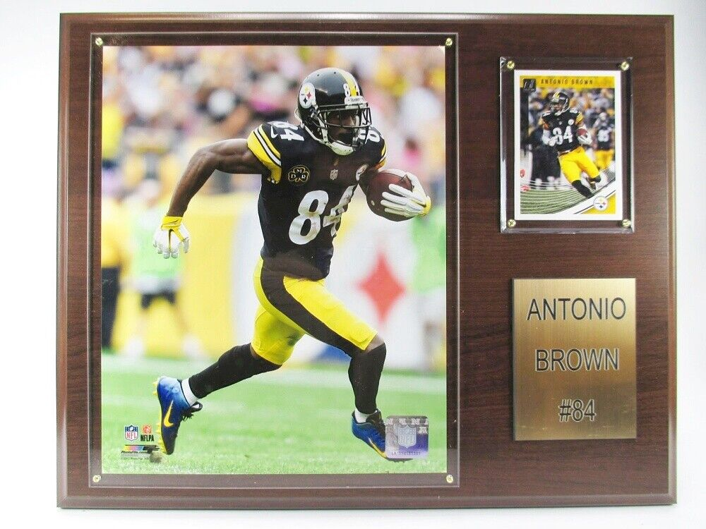 Antonio Brown Pittsburgh Steelers Wood Wall Picture 38cm, Plaque NFL Football