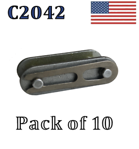 """10 pack C2042 Connecting Link C2042 Conveyor roller chain 1/"""" Pitch Master Link"""