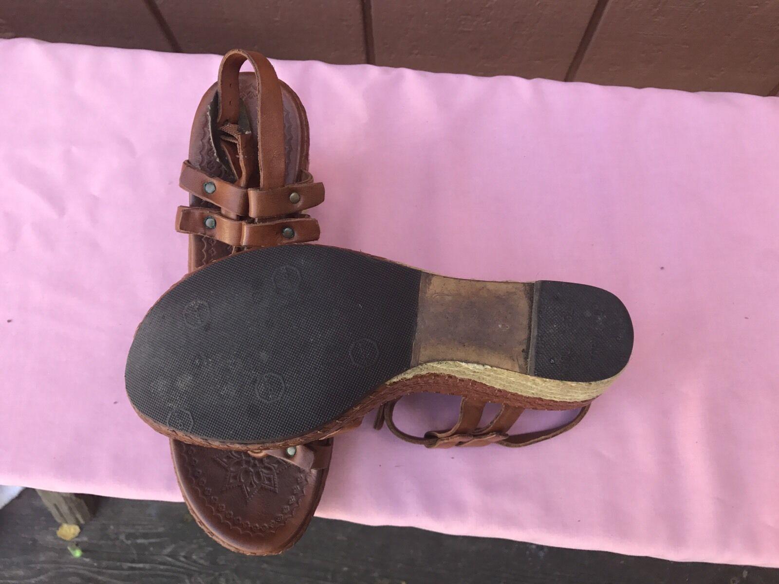 EUC ASH Braun Leder Platform Wedge Sandale EUR 6 36 US 5.5 - 6 EUR 537d1a
