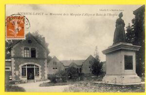 cpa-71-BOURBON-LANCY-Monument-MARQUISE-d-039-ALIGRE-et-BAINS-de-l-039-HOSPICE-Concierge