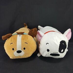 Lot-of-2-Bun-Bun-Stacking-Plush-Pup-Pup-Dog-amp-Dalmation-7-034-long-stuffed-animal