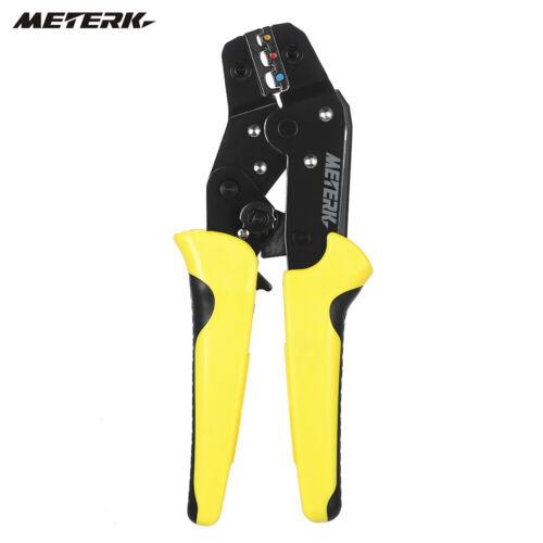 Meterk Wire Crimper Ratchet Terminal Crimping Plier 24-14AWG 0.25-2.5mm² US V6U3