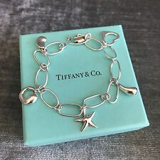 Tiffany & Co Silver Elsa Peretti 5 Charm Bracelet Starfish Bean Small