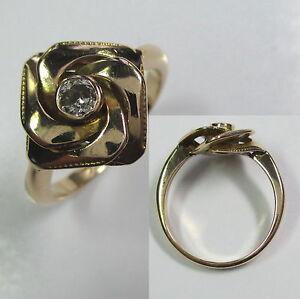 590-Antiker-Ring-Gold-585-Altschliff-Diamant-1144-1385