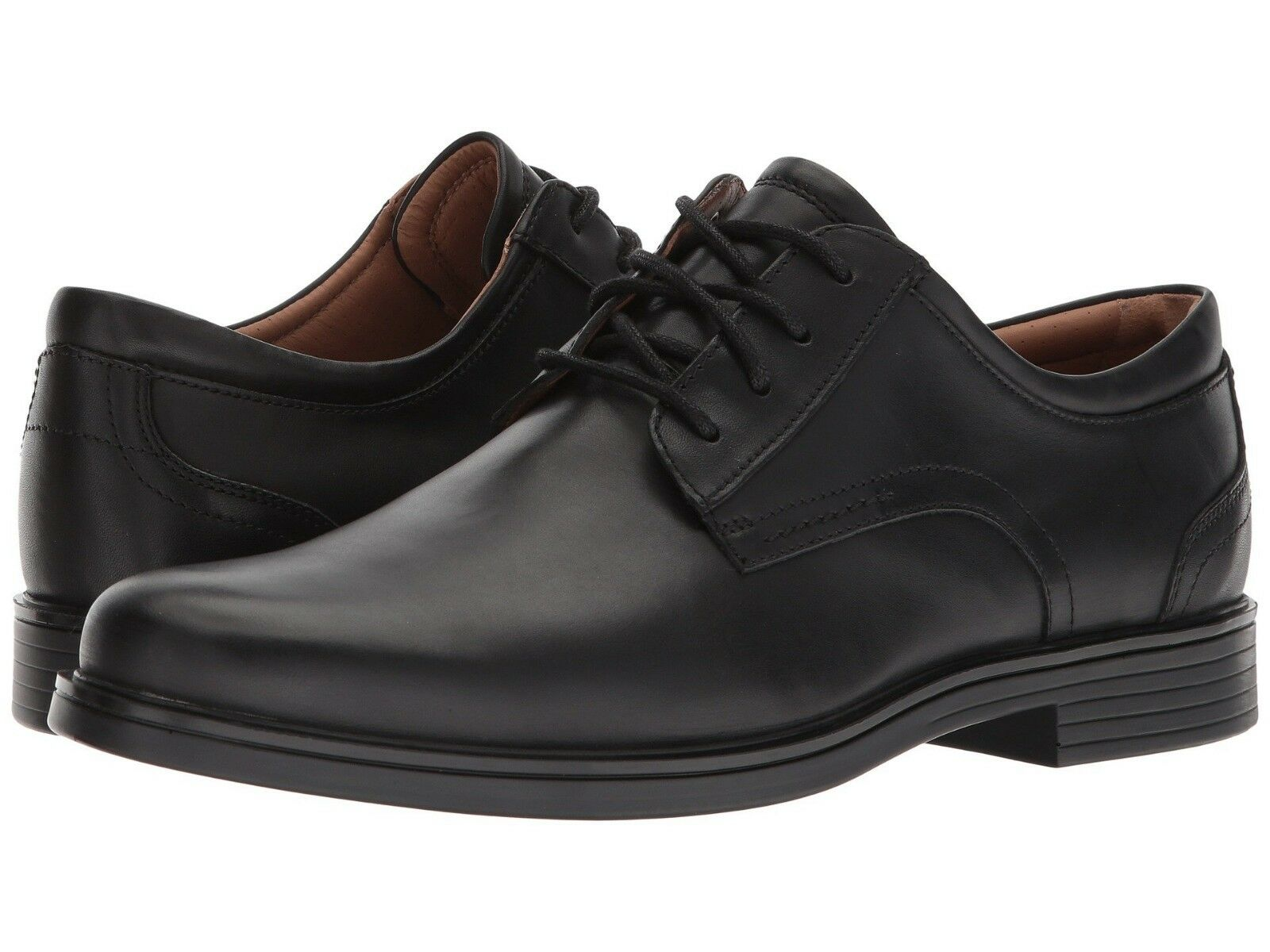 Clarks UN ALDRIC LACE Mens Black Leather 32677 Lace Up Comfort Oxford shoes