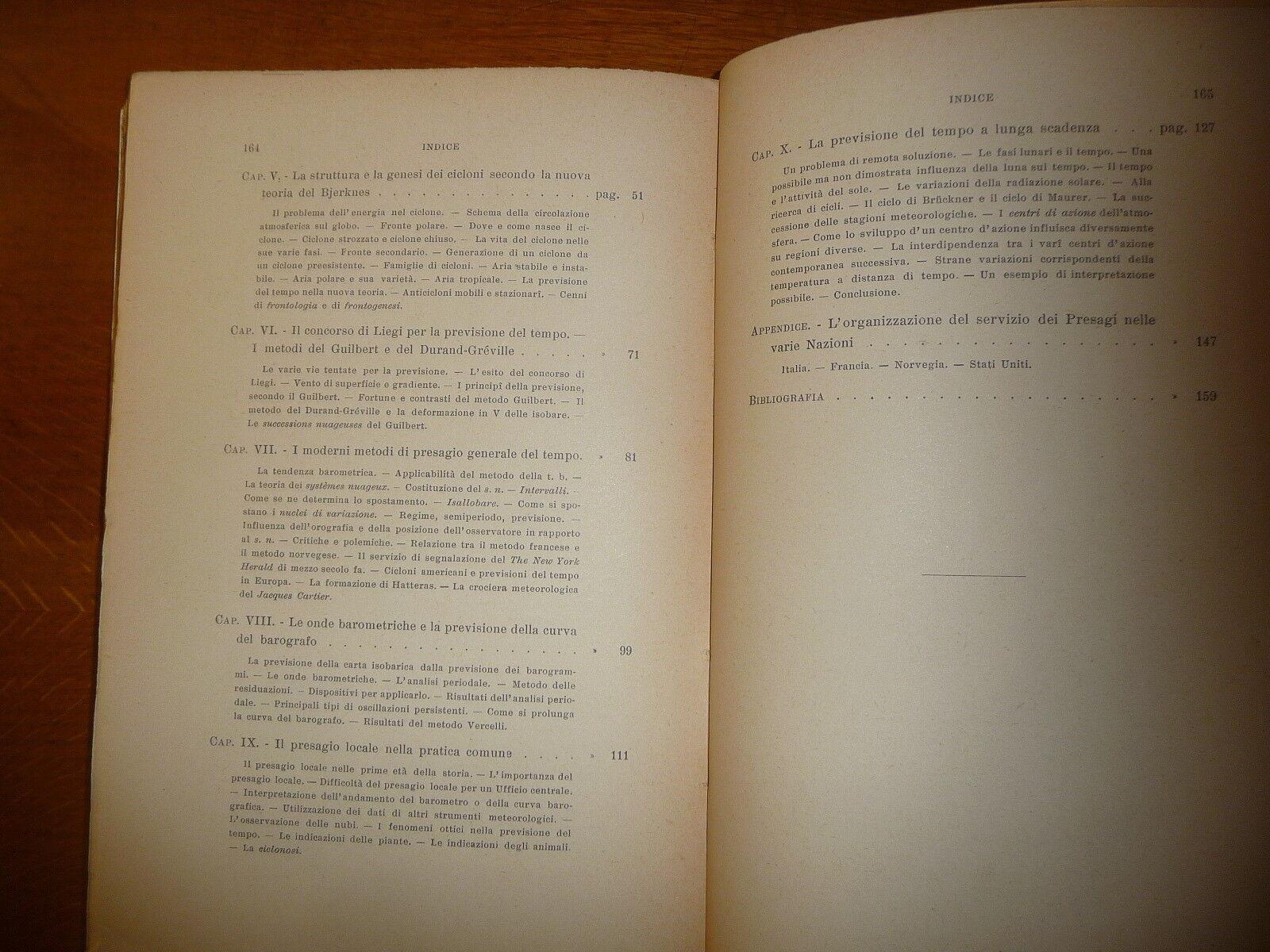 LA PREVISIONE DEL TEMPO TITO ALIPPI ZANICHELLI 1930