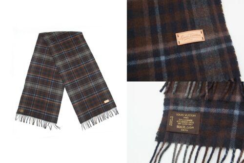 Louis Vuitton Unisex Cashmere Merino Wool Plaid Ch