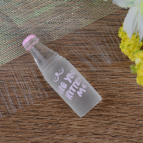 4Pcs 1:12 Dollhouse mini pink drinks bottle for doll house decorationSE