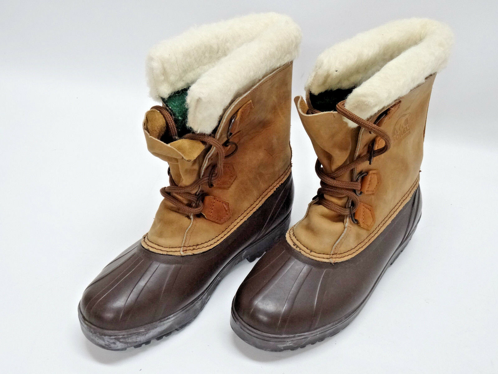 SOREL ALPINE WOMENS LEATHER SNOW BOOTS SIZE 9US/39-40EU/7UK in EUC