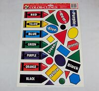 Window Clings Primary Colors & Shapes 28 Reusable Static Cling Stickers