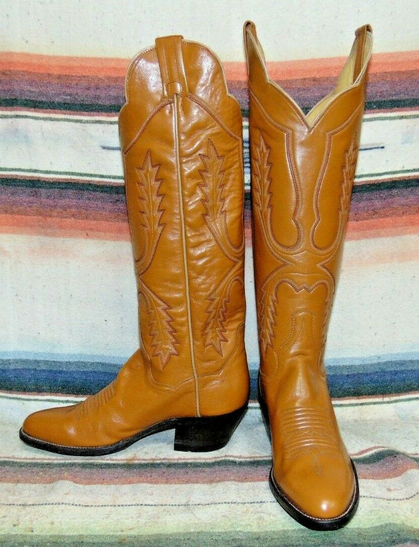 mujer Vintage Panhandle Slim marrón Leather Cowboy botas 5.5 B NEW w o Box
