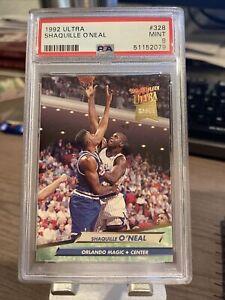 Shaquille O'Neal 1992-93 Fleer Ultra #328 Rookie PSA 9 Mint Shaq HOF