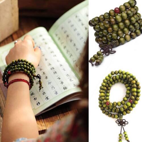 Unisexe de bois de santal bouddhiste méditation 6mm*108 Prière Perles Mala Bracelet//Collier