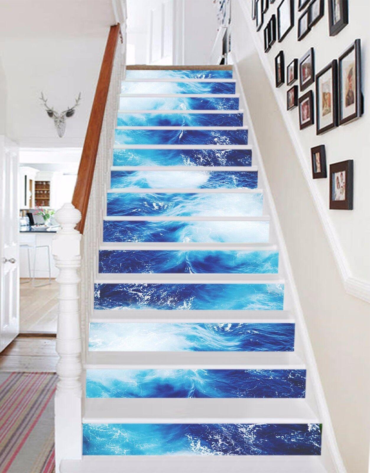 3D 3D 3D Ocean 635 Stair Risers Decoration Photo Mural Vinyl Decal Wallpaper UK c1f92a