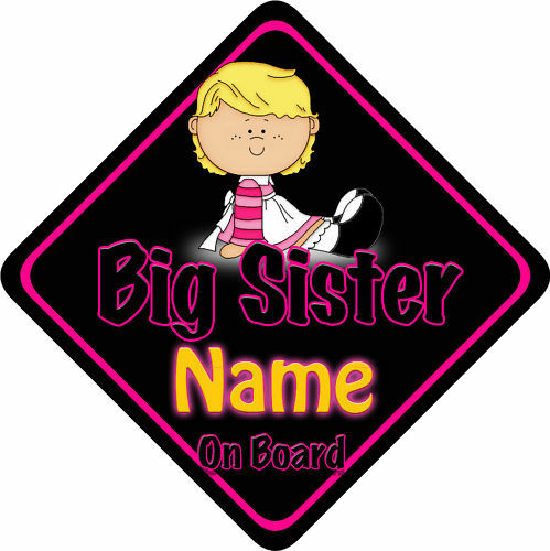 Big Sister Car Sign Like Baby//Child On Board Blonde BP