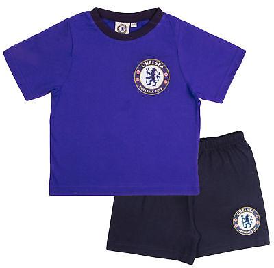 Herrlich Mens Official Chelsea Fc Short Pyjamas 100% Cotton Premiership Football Pjs Size