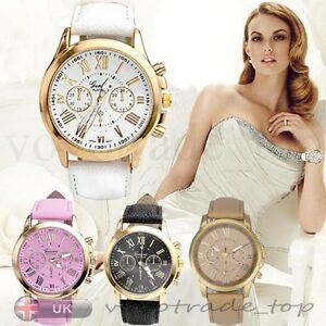 Moda-Reloj-de-Mujer-Acero-Inoxidable-Cuero-Analogico-de-Cuarzo-Relojes-Pulsera