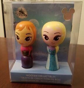 Disney-D23-Expo-Exclusive-Frozen-Wooden-Figure-Set-Anna-amp-Elsa-LE-300-NEW