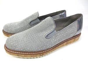 Details zu GABOR Comfort Sneaker Leder Schuhe grau Glitzer Slipper Kork NEU UVP 129,95