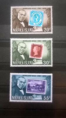 Motive Humor Norfolk Inseln 1979 Satz 100 Todestag Rowland Hill Stamp On Stamp Mnh