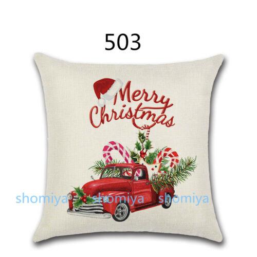 "US 18/"" Tartan Plaid Christmas Xmas Cushion Cover Pillow Case Sofa Home Decor New"