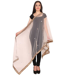 Traditional-Ethnic-Indian-Women-039-S-Dupatta-Shawls-Blue-Stole-Wrap-Scarf-Scarves
