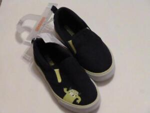 GYMBOREE-Monstro-Politan-Blue-Slip-On-Shoes-Sneakers-w-Monsters-Sz-5-6-9-NEW