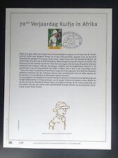 Timbre Postzegel 500 ex  Kuifje Afrika Fijn Goud 23 karaat or fin carat Tintin