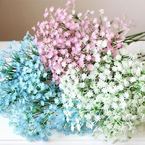 27 artificial babys breath plant flower wedding party decor home image is loading 27 034 artificial baby 039 s breath plant mightylinksfo
