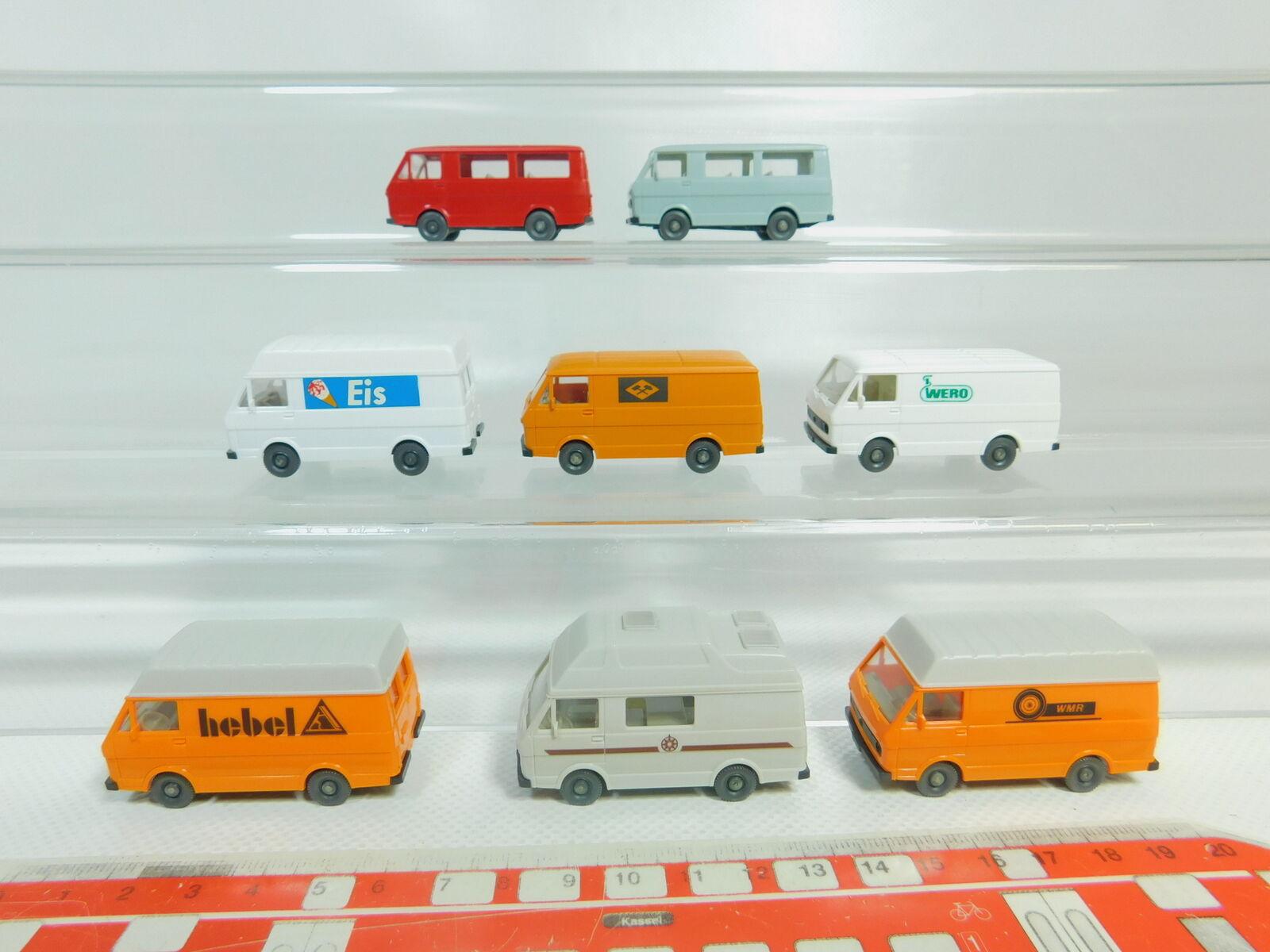 BO565-0,5  8x Wiking H0     1 87 Modelo VW Lt 28  Helado + Palanca + Wero + Wmr b0b601
