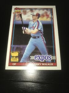 1991 Topps Baseball #339 ~ LARRY WALKER ~ All Star Rookie ~ Montreal Expos