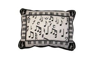 Melody Music Decorative Tapestry Accent Pillow - Piano Keys, Musical  Notes