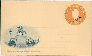 "Rapture Postal Stationery Specimen Factories And Mines Overprinted ""muestra"" Argentina"