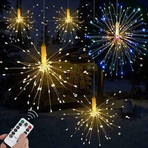 Colgante-hada-cadena-de-luz-LED-fuegos-artificiales-control-remoto-8-modos-Fiesta-De-Navidad-Lampara