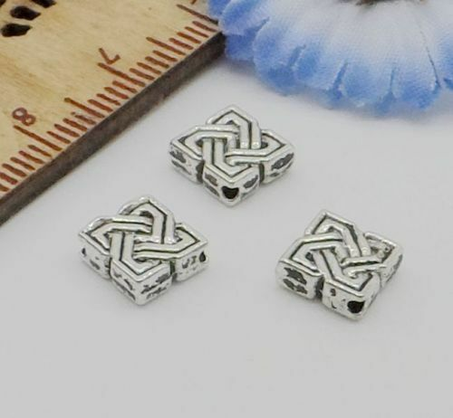Free Ship 50Pcs Tibetan Silver square Spacer Beads For Jewelry Making 7x3mm