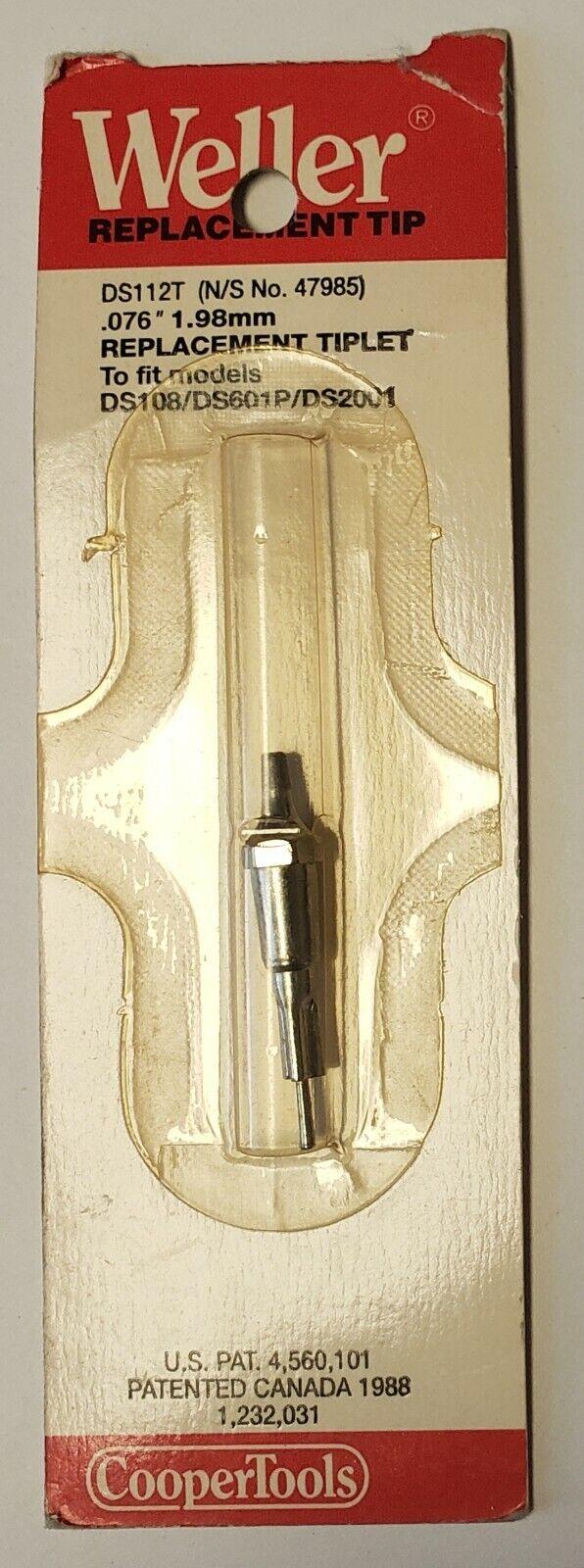 """New Weller DS115T 0.060/"""" 1.58mm Tiplet"""