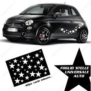 Dettagli Su Adesivi Universali Grafica Stelle Fiancate Per Fiat 500 Smart Bianco