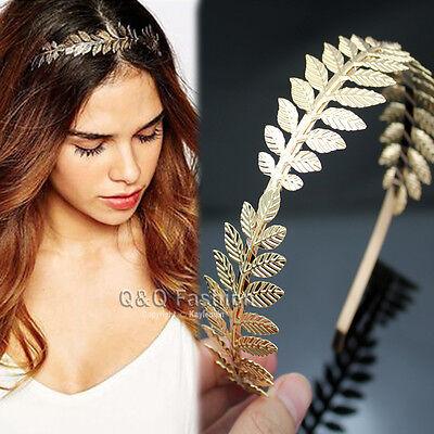 Roman Goddess Leaf Branch Dainty Hair Crown Head Dress Boho Alice Band Bridal W8