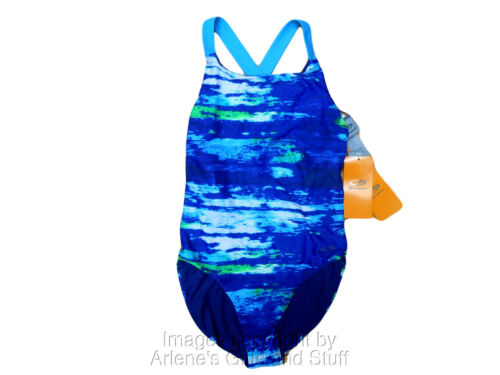 Champion Womans Swimwear Bathing Suit One Piece Blue