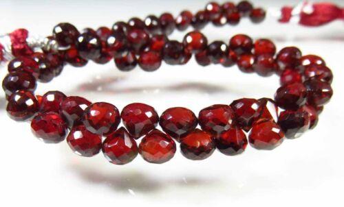 Natural rojo granate Mozambique facetas cebolla forma Espinela granos de piedras preciosas